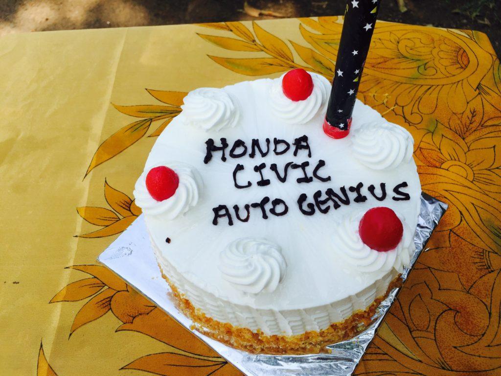 Autogenius Honda civic cake